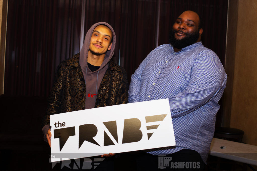 "New artist, Ben Burden (left), and manager, Von ""Fat Jesus"" Jordan (right), before his performance"