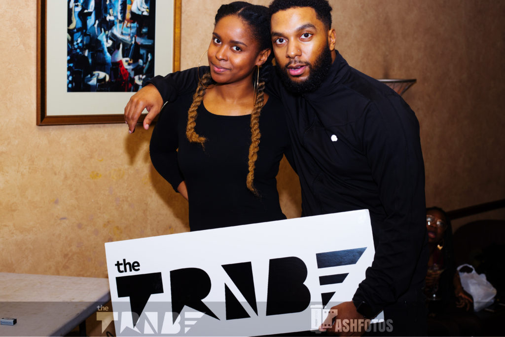 The TRiiBE cofounder, Morgan Elise Johnson, with Julian Love