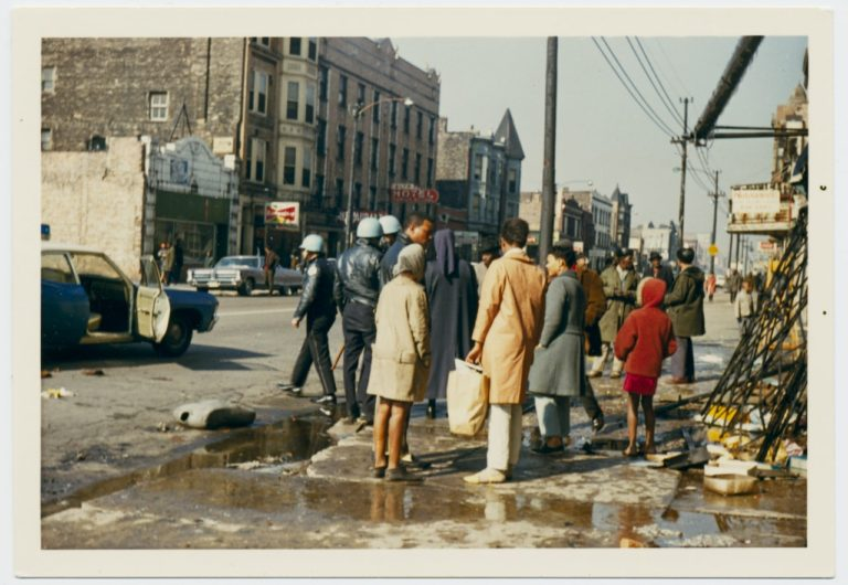 Views of looted businesses during the West Side riots after the assassination of Martin Luther King Jr., Chicago, Illinois, April 1968 (Courtesy of the Chicago History Museum)