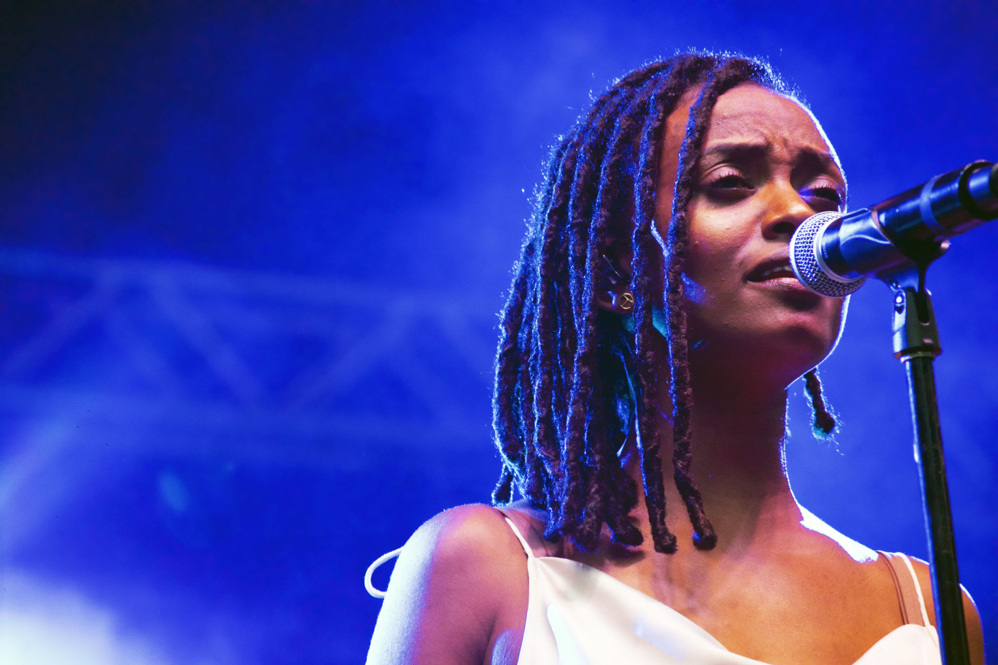 Kelela during her set | Photo by Nelson Okunlola (The TRiiBE)