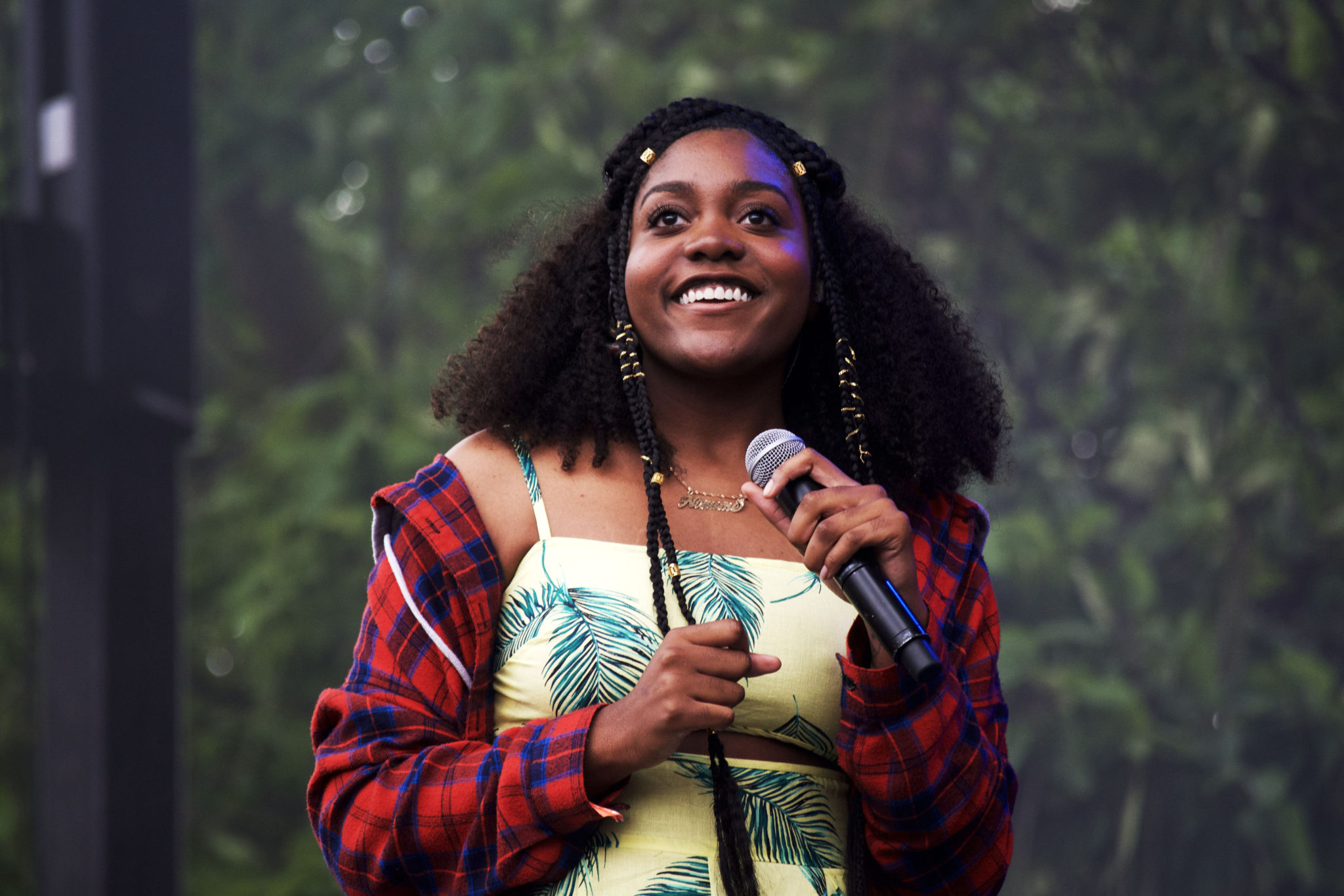 Noname smiling at the crowd | Photo by Nelson Okunlola (The TRiiBE)