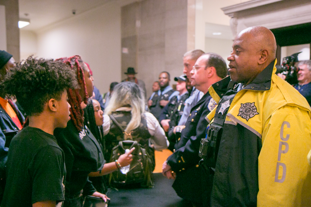 Inside City Hall: hundreds of Black and Brown activists denied entry to Chicago City Council's vote on police academy