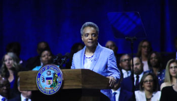 Mayor Lori Lightfoot talks a good game at Monday's historic inauguration
